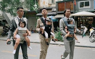 Liên minh 3 ông bố bỉm sữa với toàn những cái tên đình đám ở Hà Thành: Nhìn mà muốn lấy chồng, đẻ con ngay liền luôn á!