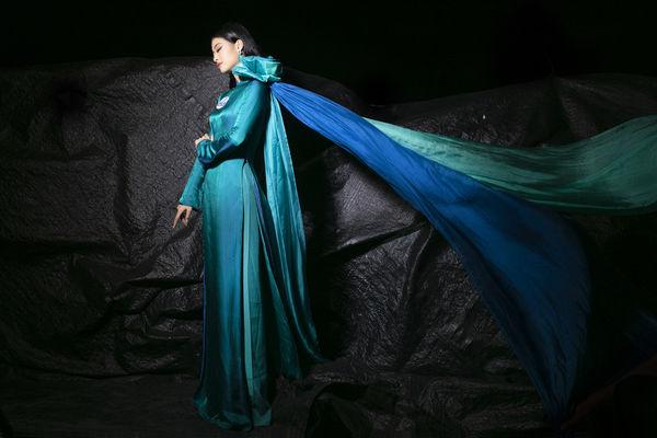 Ngắm á hậu Kiều Loan hóa nàng tiên trong tà áo dài bay bổng, ai mà chẳng say!