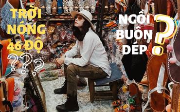 Mặc trời nóng 46 độ, ''chị Ba'' Ngô Thanh Vân quyết sang châu Phi khám phá chợ trời nức tiếng Maroc và ngồi… buôn dép